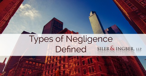 Types of Negligence Defined